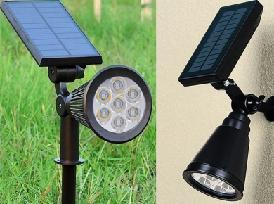 Comparison of Normal Landscape Light and Solar Landscape Light
