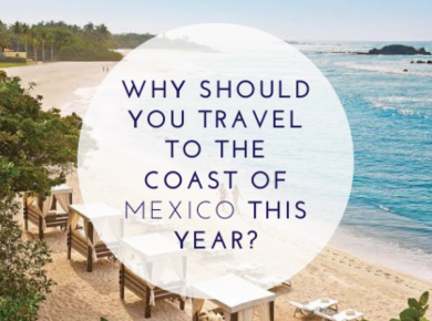 Why should you travel to the coast of Mexico this year?