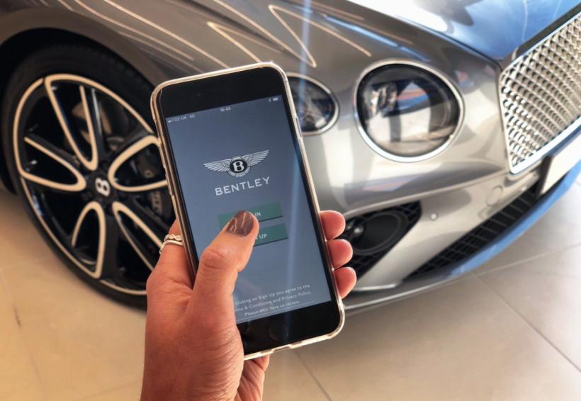 Driving a Bentley in Dubai