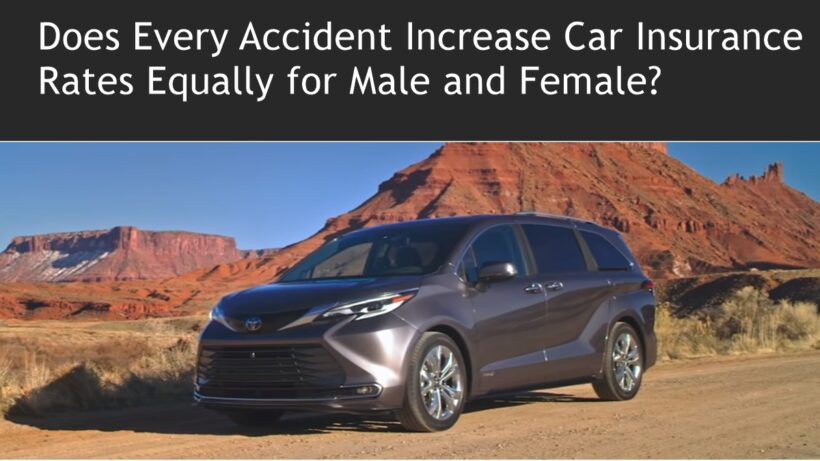 Does Every Accident Increase Car Insurance Rates Equally for Male and Female?